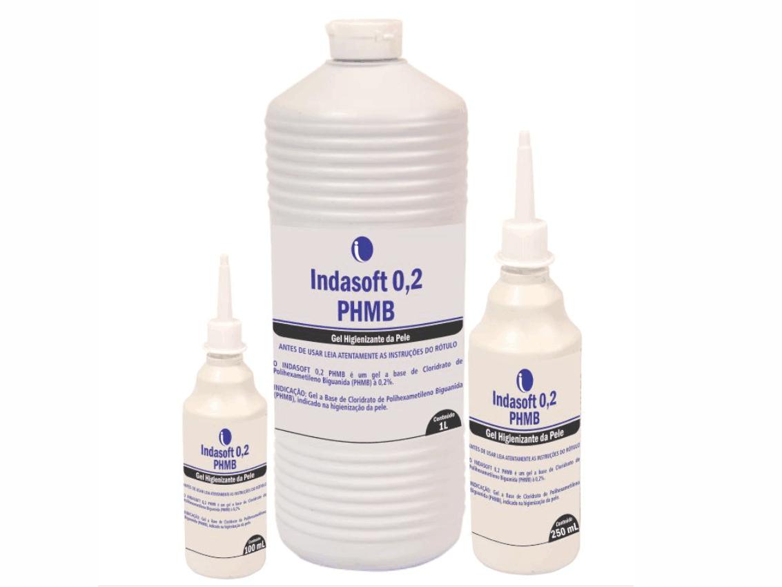 Indasoft 0,2 PHMB - Gel Higienizante da Pele
